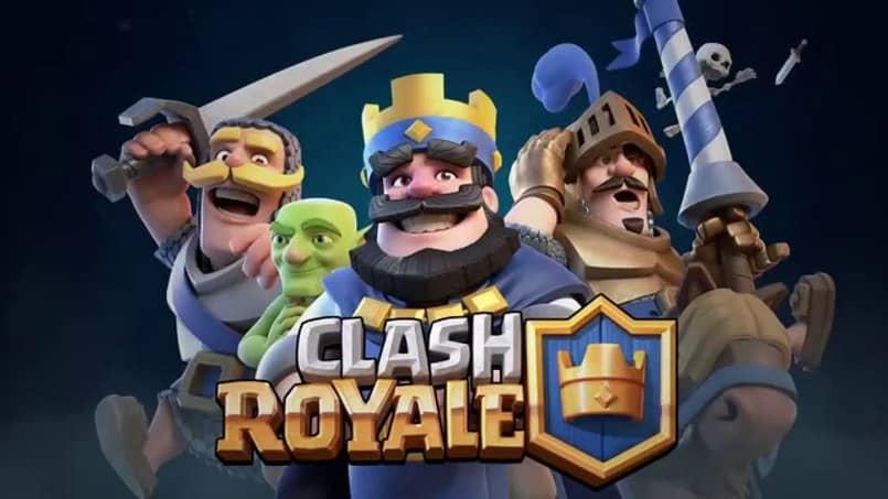 personjes y logo de clash royale