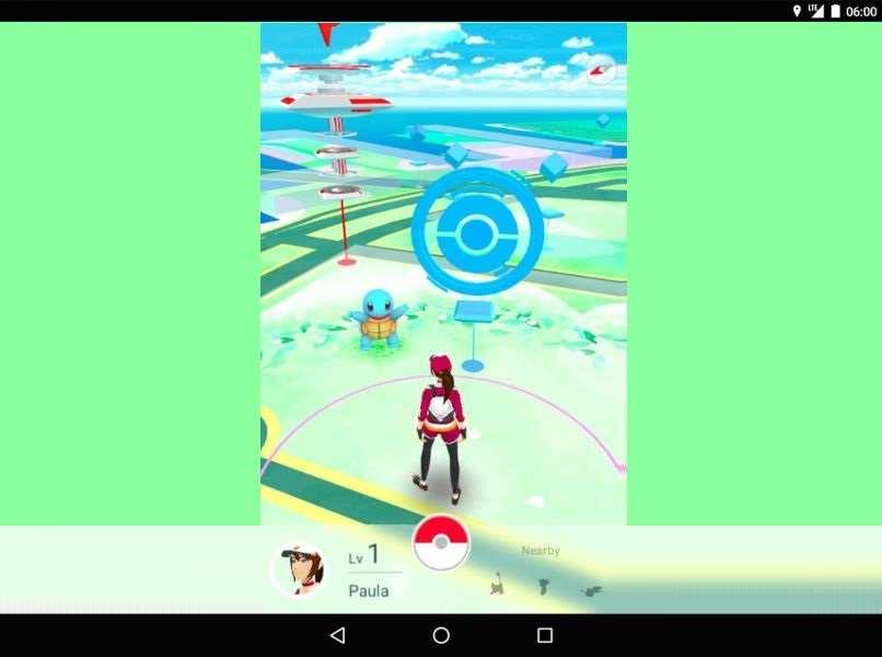 movil android pokemon go icono pokeparada personaje paula