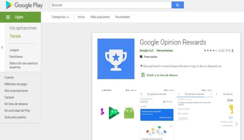 pagina descarga google rewrds