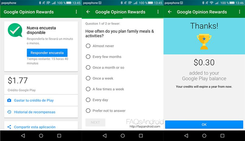 instalar google rewards android