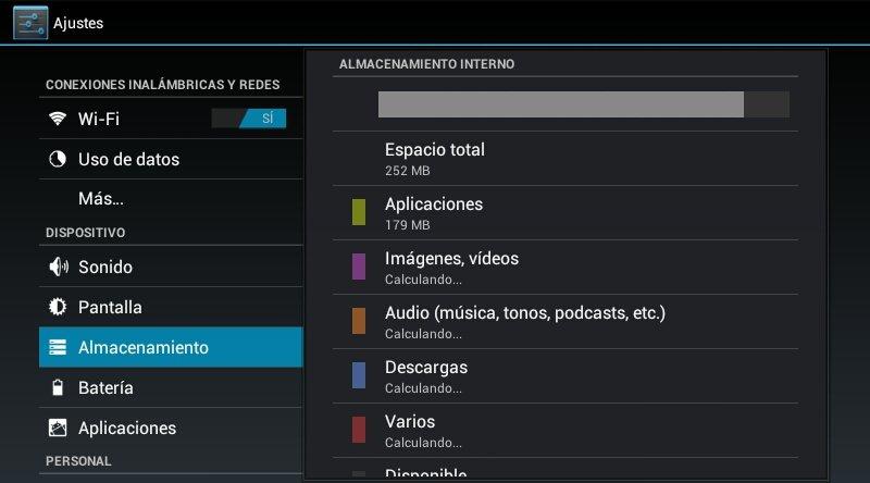 Aumentar memoria interna Android