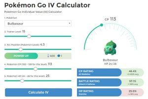 Calculadora IV para Pokémon Go3