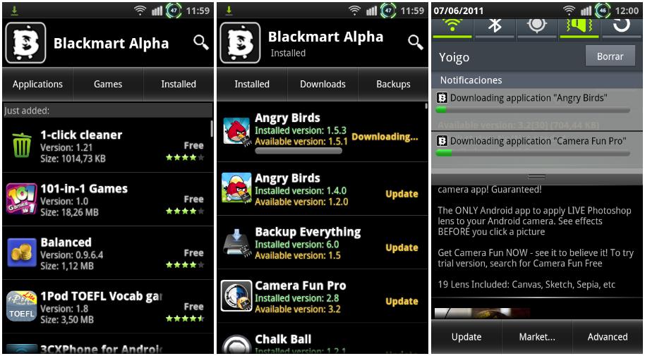 Descargar Aptoide y BlackMart Alpha 2