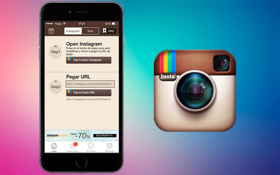 Descargar fotos videos Instagram