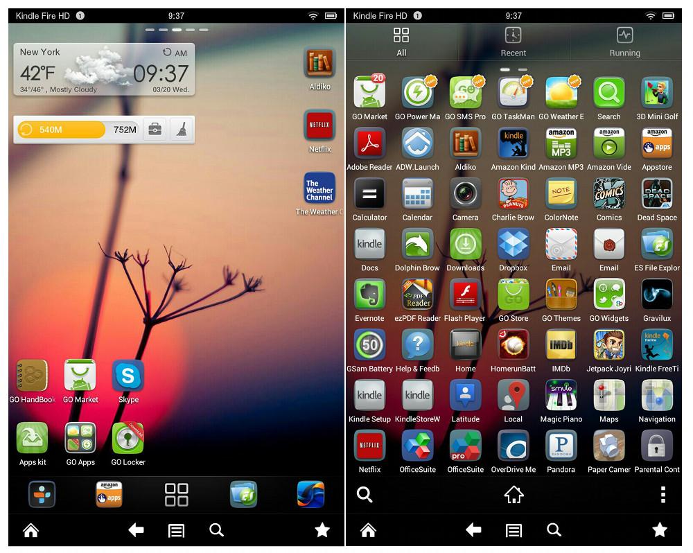 Desinstalar GO Launcher Android