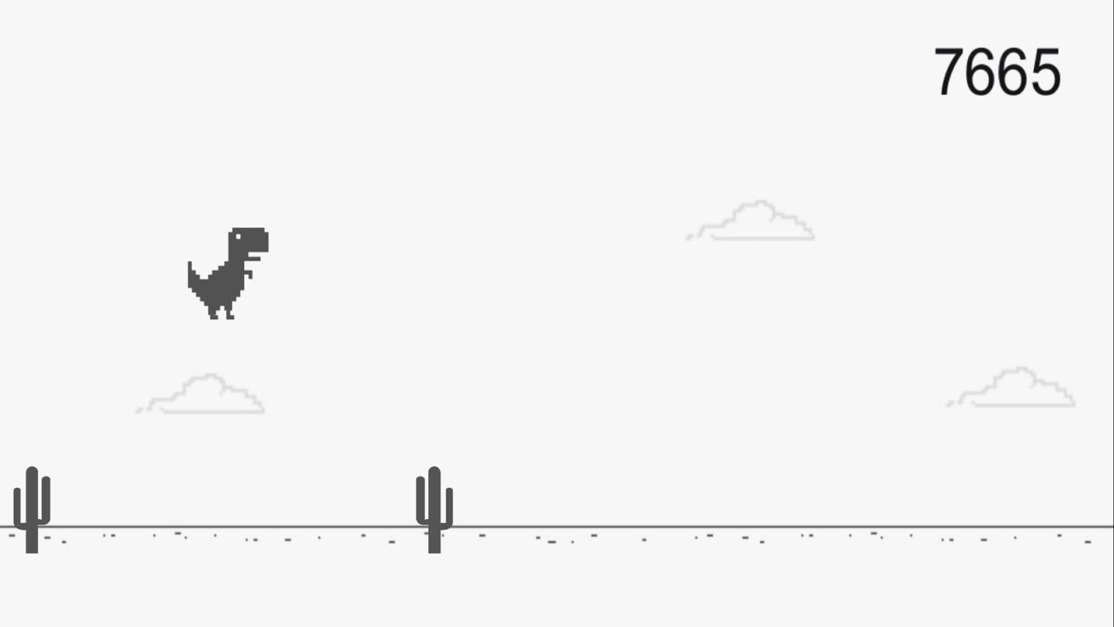 El juego del dinosaurio de Chrome se hace viral