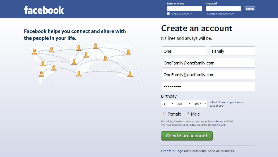 Facebook gratis Foundation Profile