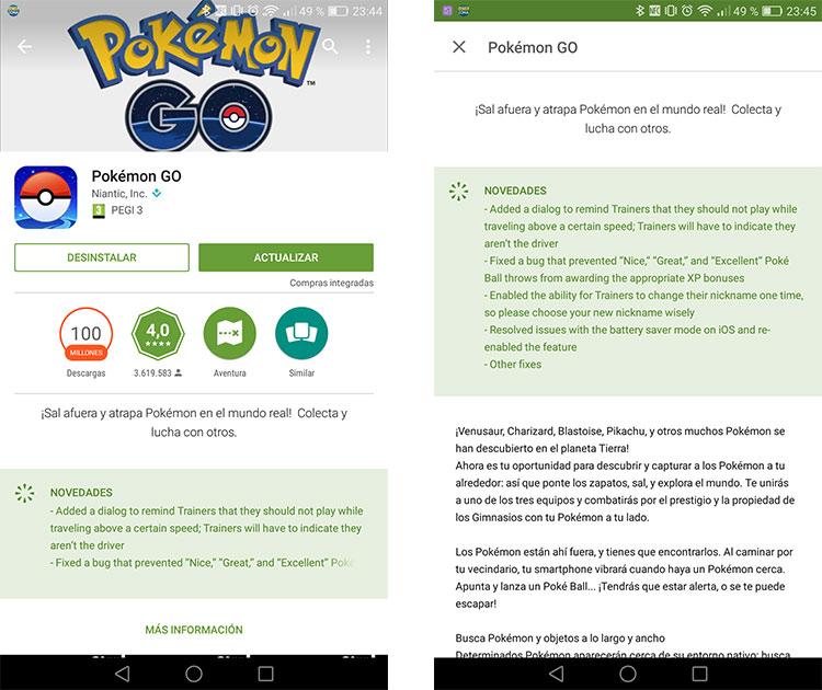 Pokémon Go se ha detenido1