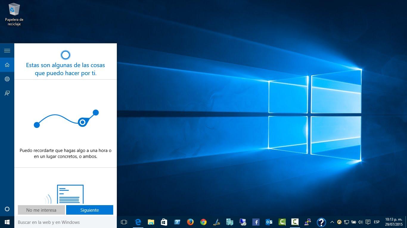 Trucos Cortana Windows 10