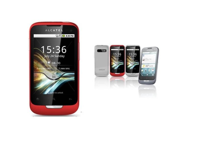 telefonos moviles one touch fondo blanco