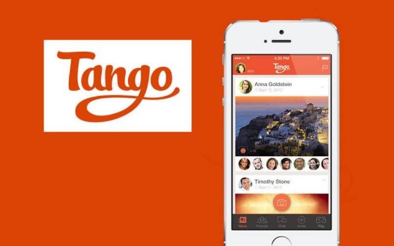 movil con pantalla de tango