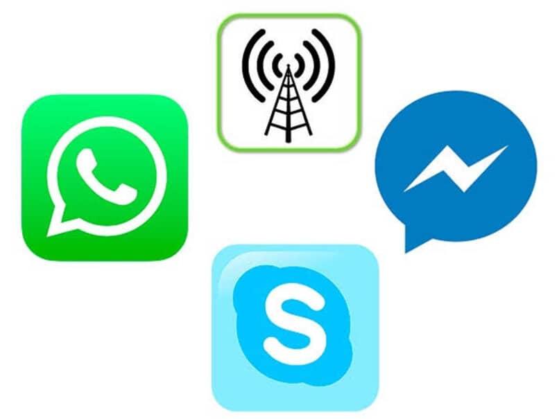 wlan whatsapp skype messenger