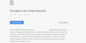 error de DNS2