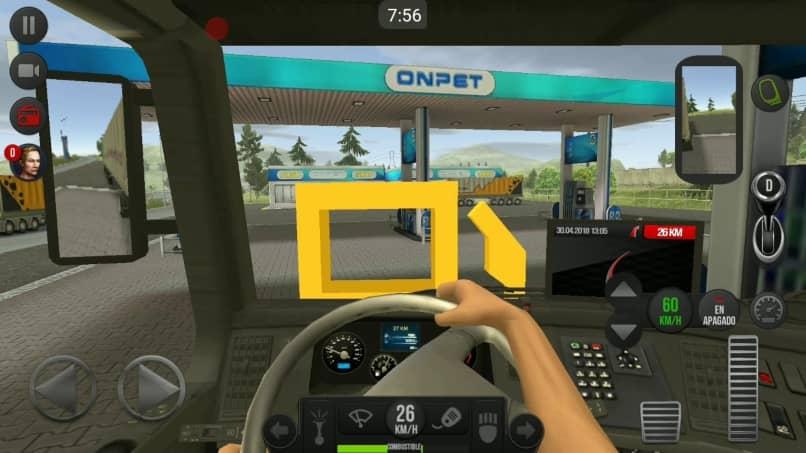 cabina de simulacion de camion gratis