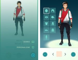 modificar tu avatar de Pokémon Go1