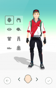 modificar tu avatar de Pokémon Go2