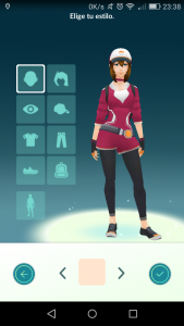 modificar tu avatar de Pokémon Go3