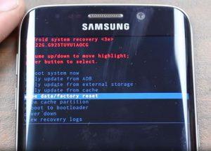 solucionar el error del Samsung Galaxy S7(1)