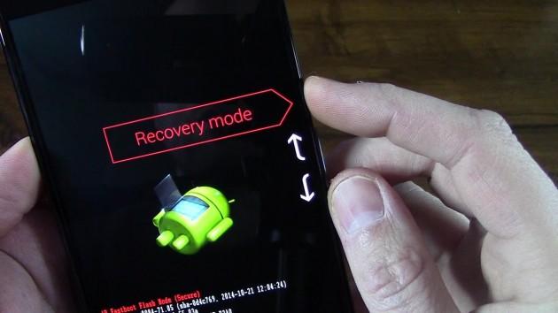 Entrar al modo recovery en un Alcatel