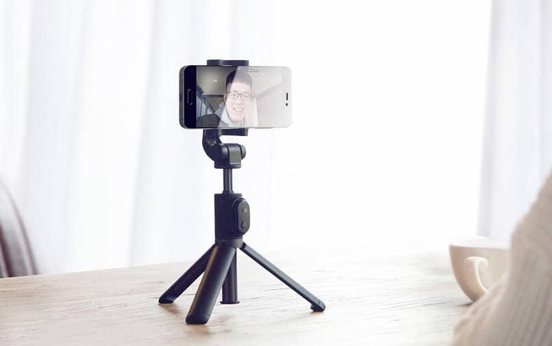 configurar selfie stick