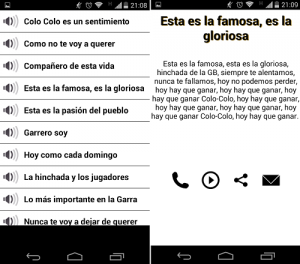 descargar Colo Colo vs U Chile Canticos para Android4