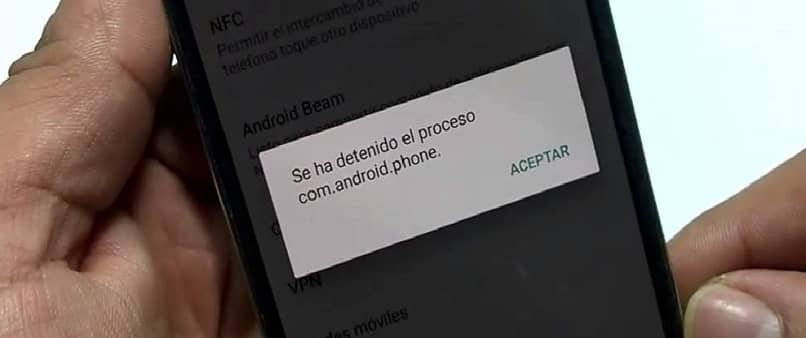 error proceso.com.android.phone