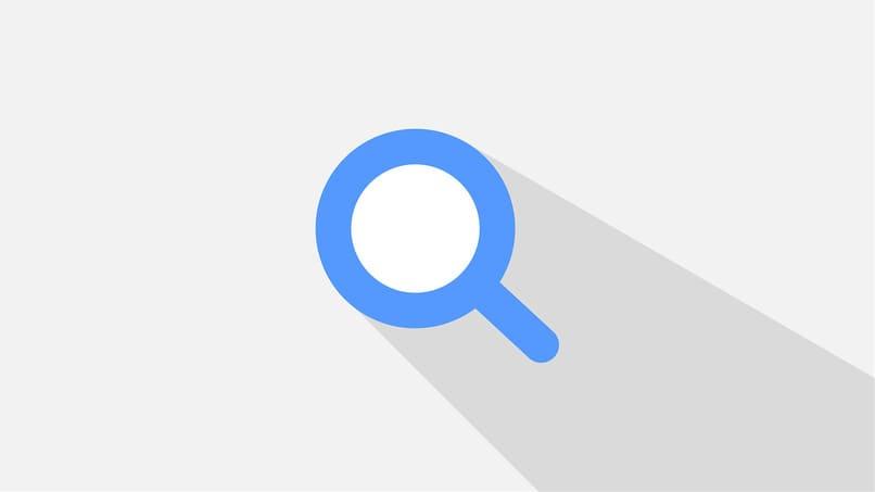 icono de busqueda color azul