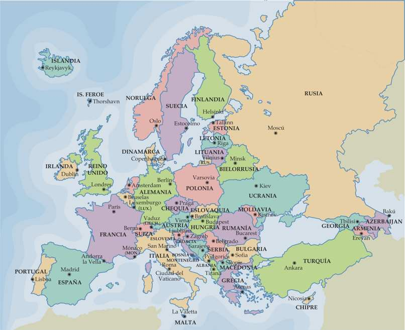 ver mapa europeo