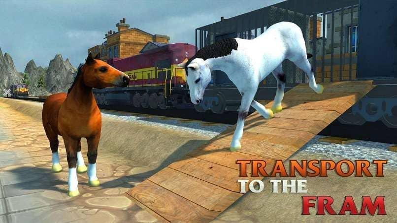caballos blanco cafe bajando tren