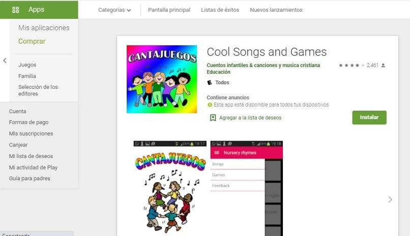 usar app canta juegos android