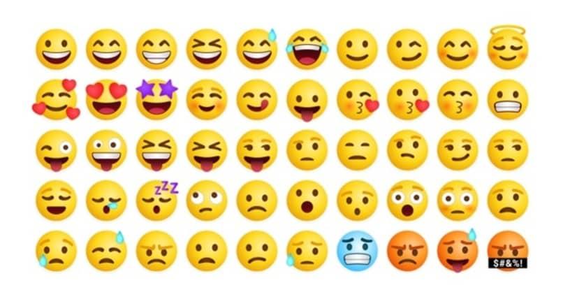 coleccion de emojis variados