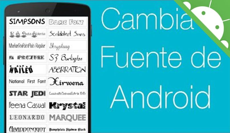 fuentes android cambiar