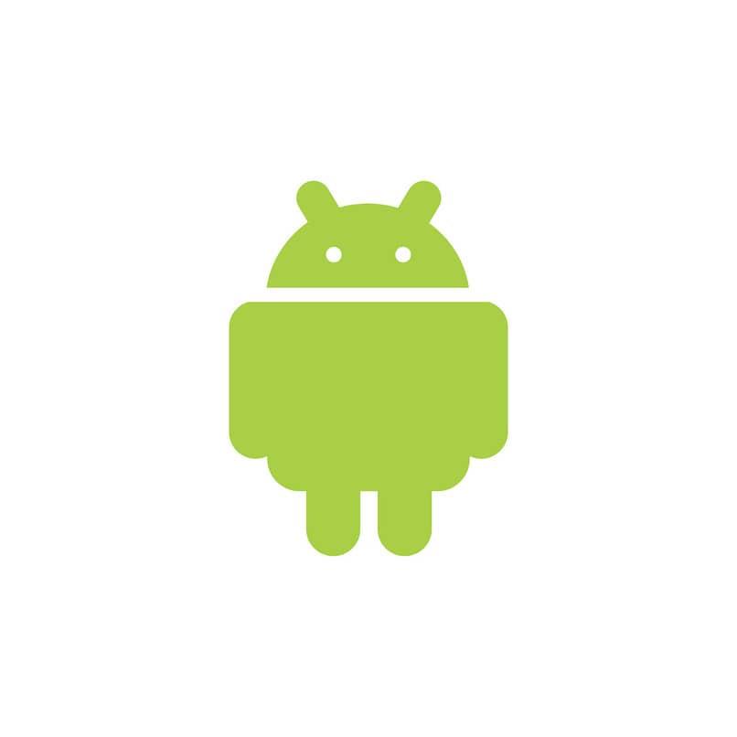 logo de android en un fondo color blanco