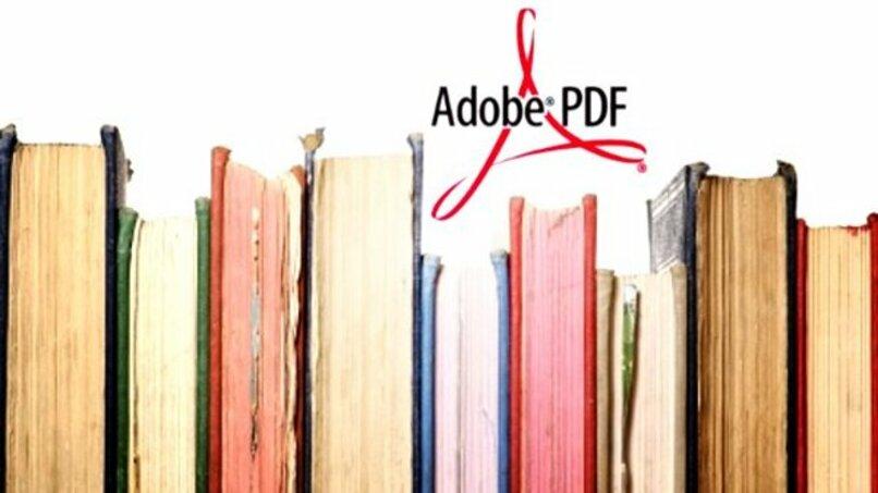 libros con logo de adobe pdf encima