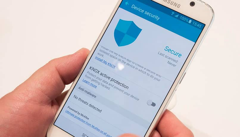 samsung knox message activacion