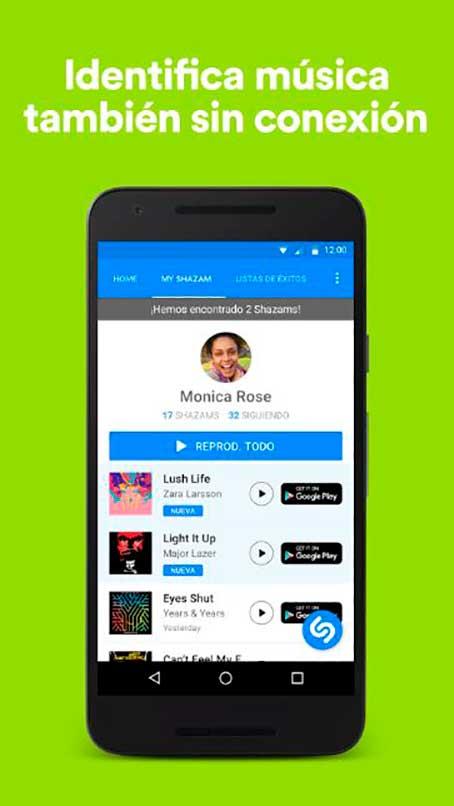 Shazam para iPhod
