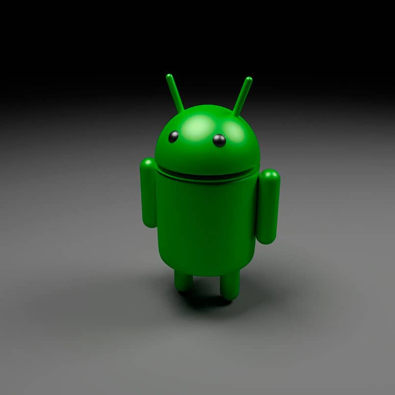 icono android verde 3d
