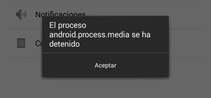 android.process.media se detuvo
