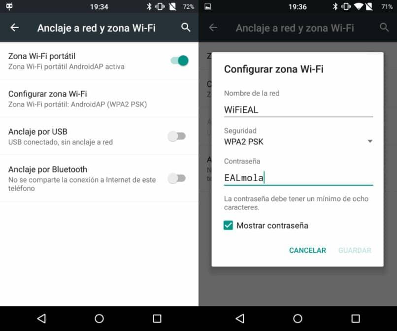 zona wifi configurar contrasena