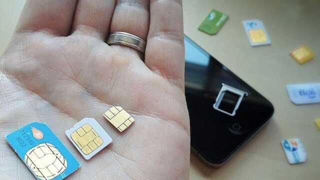 diferentes tipos de sim para móviles