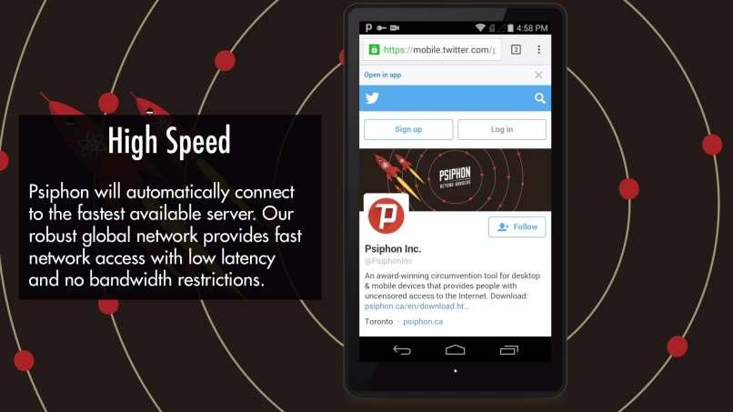 acelerar la velocidad de internet psiphon