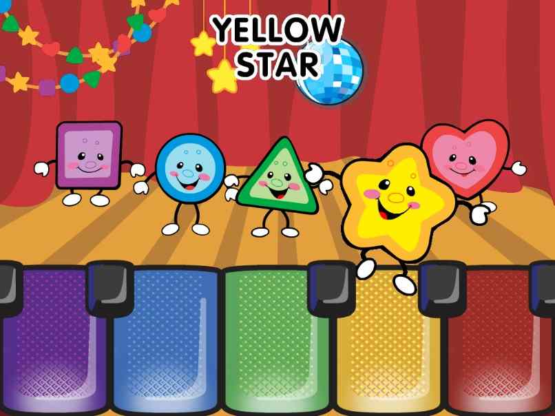 pantalla de aplicacion yellow star para moviles o tablets