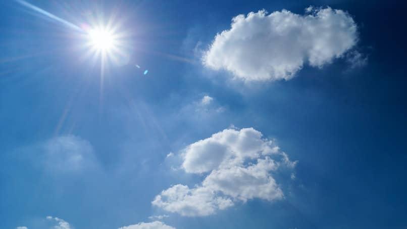 dia con el tiempo soleado