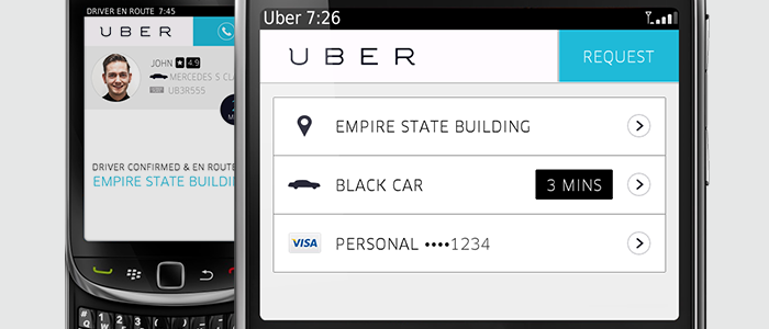 Uber en Blackberry