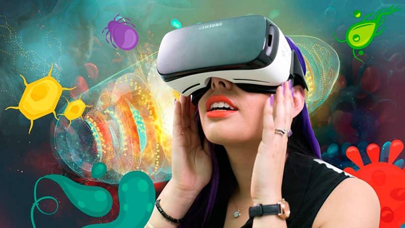 Bellas gafas de tecnología VR