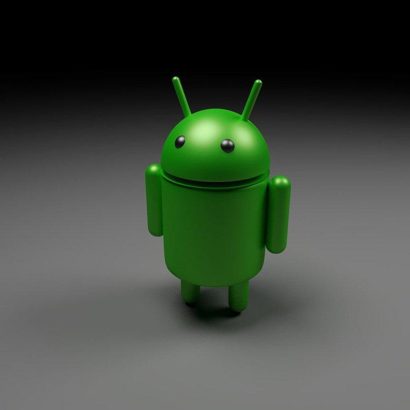 icono de android con un fondo negro