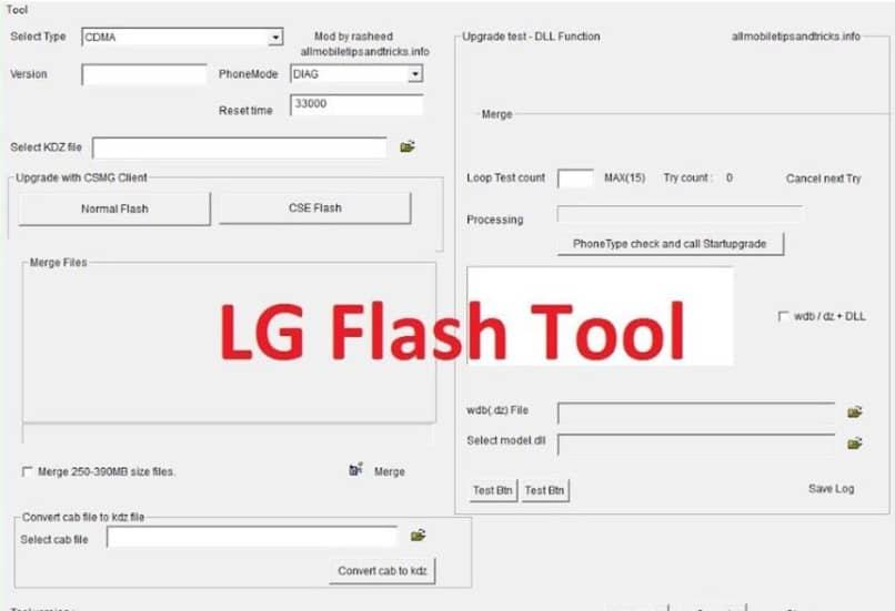 herramienta de windows lg flash tool