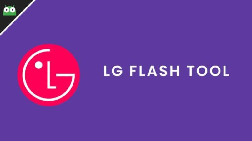 logo de lg con nombre de programa lg flash tool