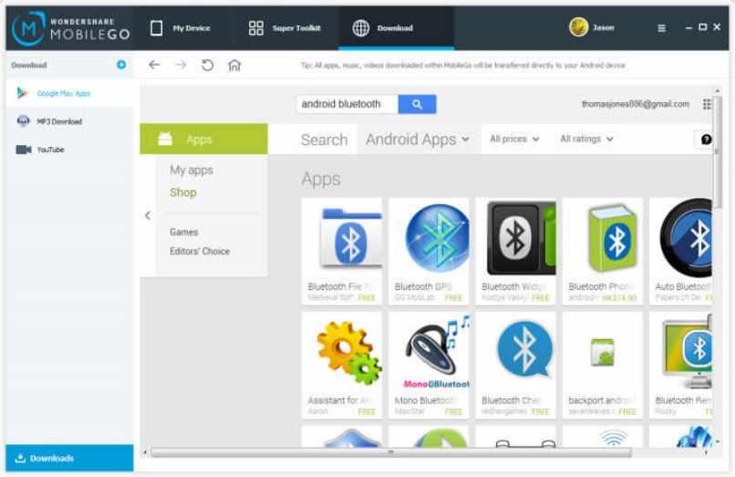 descargar app transferencia datos bluetooth