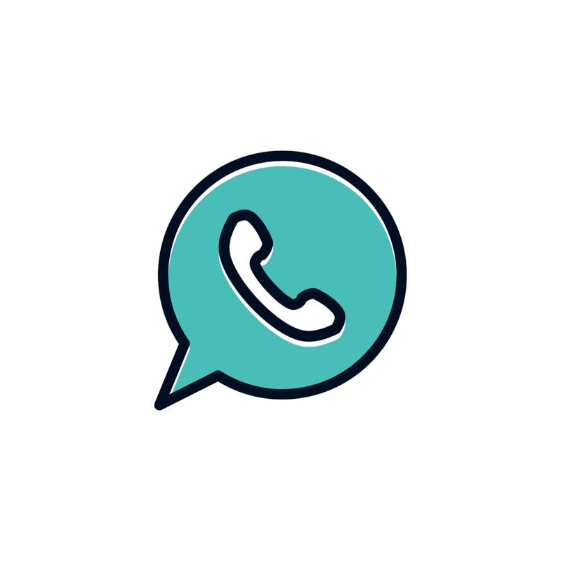 dibujo del logo de whatsapp